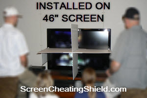 46 inch Screen shield to stop screen looking